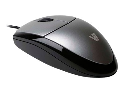 V7 : V7 MOUSE OPTICAL BLK/SIL retail USB 3 BUTTON WHEEL 1000DPI