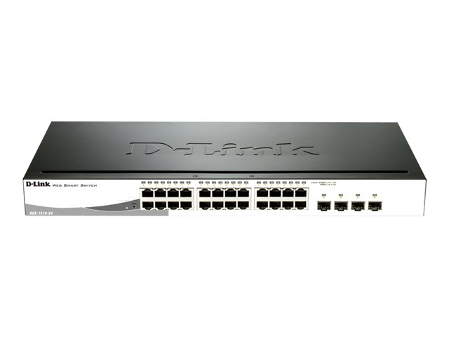 D-Link : 24-PORT GB POE SMART SWITCH INCLUDING 4 COMBO 1000BASET/SFP
