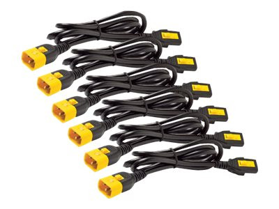 APC : POWER CORD kit (6 EA) LOCKING C13 TO C14 0.6M