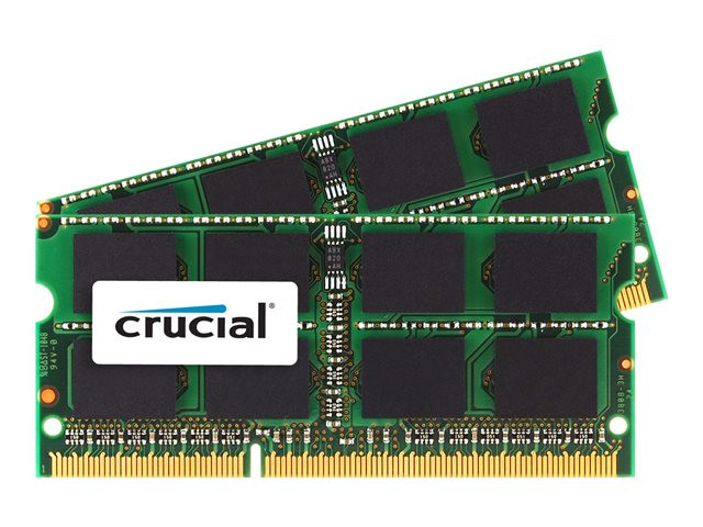 Crucial : 16GB (8GBX2) DDR3-1333 SODIMM CL9 PC3-10600 204PIN MAC