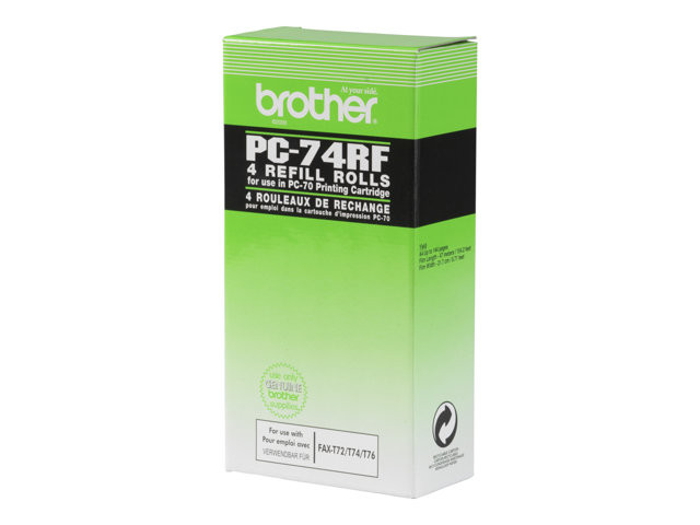 Brother : RUBAN ENCREUR 4X140 PAGES pour FAX T74