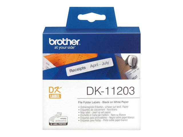 Brother : DK SINGLE LABLE ROLLS F/ QL-500 550 300PCS/RL 17X87M