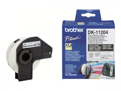 Brother : DK SINGLE LABLE ROLLS F/ QL-500/550 400PCS/RL 17X54M