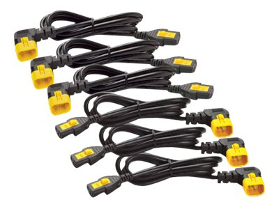 APC : POWER CORD kit (6 EA) LOCKING C13 TO C14 1.8M (90 DEGREE)1.8M
