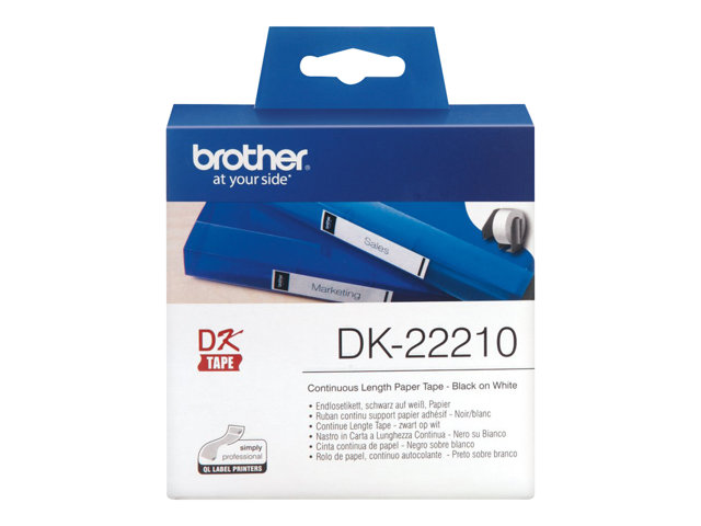 Brother : RUBAN CONT. SUPP papier ADHESIF BLANC / 30M X 29MM