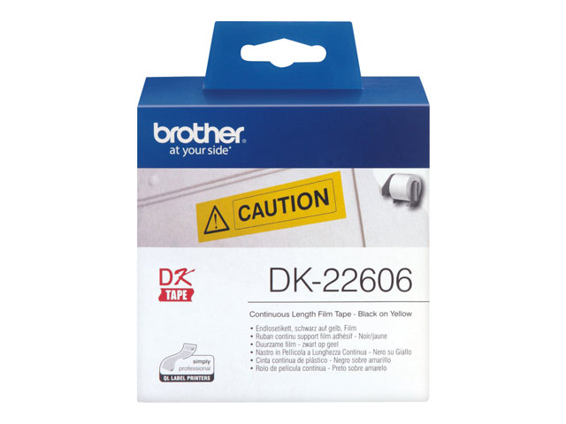 Brother : RUBAN CONT. SUPPT FILM ADHESIF NOIR/JAUNE - 15M X 62 MM