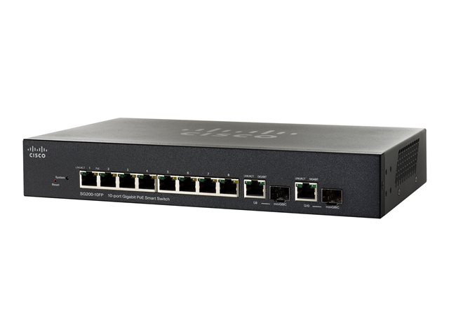 Cisco : 10-PORT GIGABIT SMART SWITCH POE