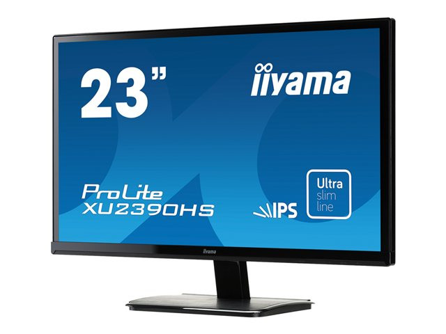 Iiyama : 23IN IPS LED 1920X1080 FHD 6MS 6M:1 VGA DVI HDMI SPEAKER SLIM