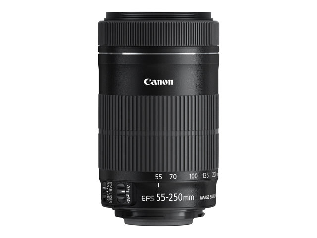 Canon : EF-S 55-250MM 1:4 0-5 6 IS STM TELE ZOOM OBJECTIVE