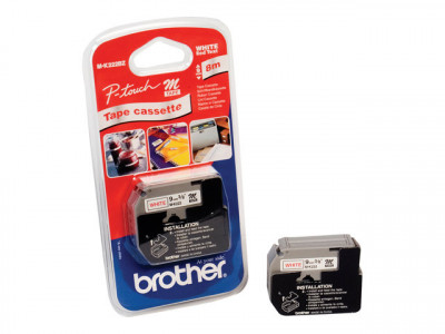 Brother : BLISTER de 1 RUBAN ROUGE/BLANC RUBANS 9 MM - LONGUEUR 8M