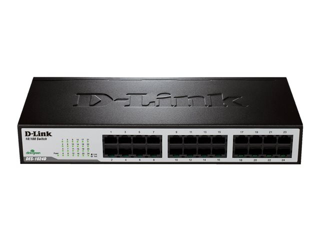 D-Link : UNMANAGED LAYER 2 SWITCH 24 PORT 10/100 INT PSU (pc)