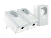 TP-Link : AV500+ POWERLINE 3-pack kit avec AC PASS THROUGH