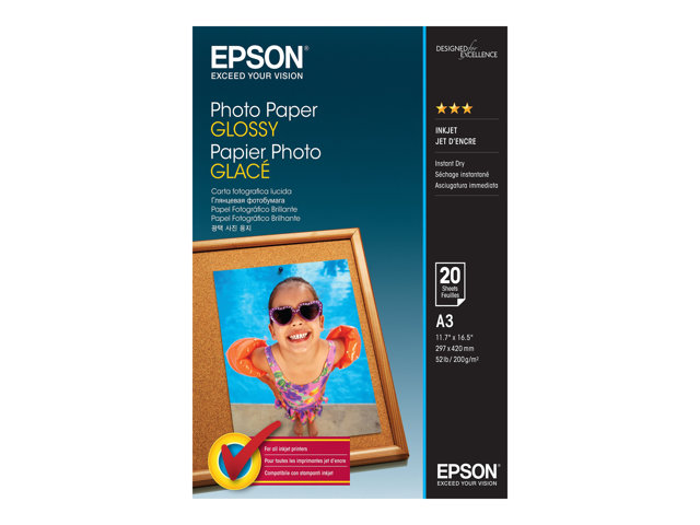 Epson : PHOTO papier GLOSSY A3 20 SHEETS