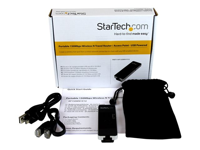 Startech : PORTABLE WIRELESS N WIFI TRAVEL ACCESS POINT/REPEATER USB POWER