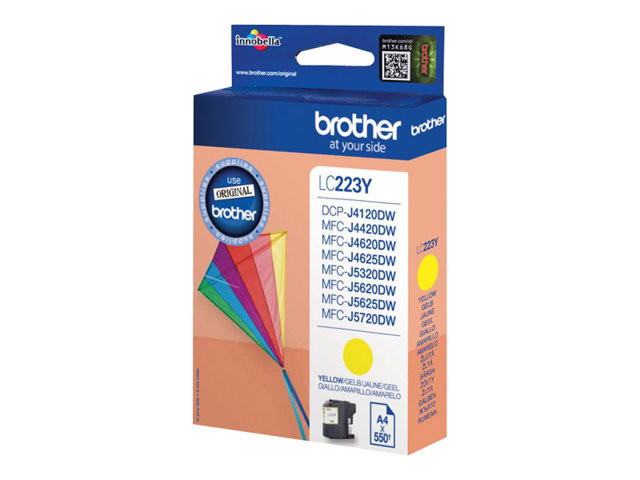Brother : LC-223Y Jaune Encre Cartouche 550 PAGES ISO STANDARDS 24711