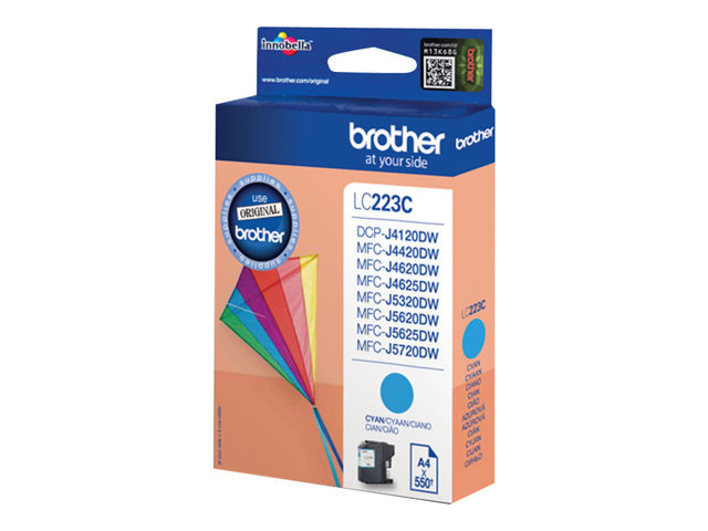 Brother : LC-223C Encre Cartouche CYAN 550 PAGES ISO STANDARDS 24711