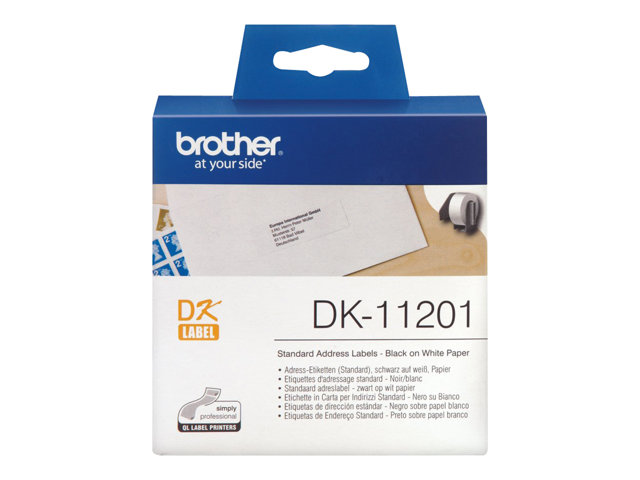 Brother : DK SINGLE LABLE ROLLS F/ QL-500/550 400PCS/RL 29X90M