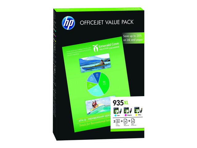 HP : INK cartridge NO 935XL CMY OVP pack