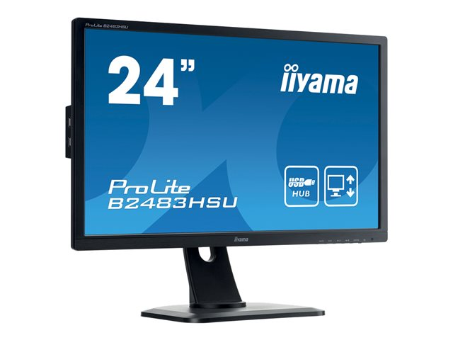 Iiyama : 24IN LED 1920X1080 FHD 2MS 12M:1 VGA DVI HDMI HAS MULTIM