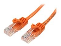 Startech : CABLE RESEAU CAT5E UTP SANS CROCHET de 3M - M/M - ORANGE