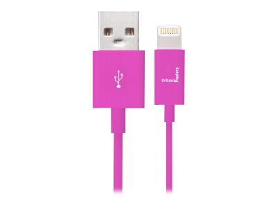 Urban Factory : VIOLET SYNC et CHARGE cable LIGHTNING - 1M - MFI