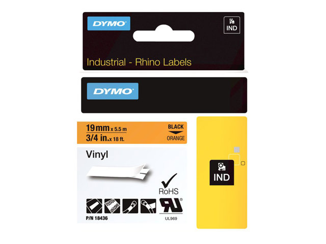 Dymo : ID1-19-1500OR ORANGE VINYL