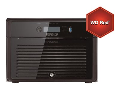 Buffalo Technology : TERASTATION 5800WD RED 32TB NAS 8X4TB 2XGB RAID 0/1/5/6/10/50-61 (14.30kg)