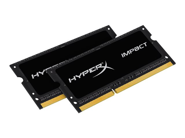 Kingston : 16GB DDR3L-1866MHZ CL11 SODIMM kit OF 2 1.35V IMPACT BLACK