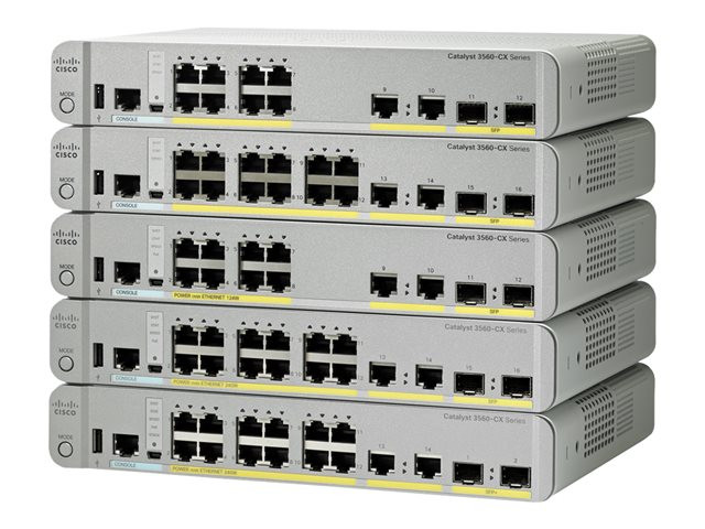 Cisco : CATALYST 3560-CX 12 PORT data IP BASE