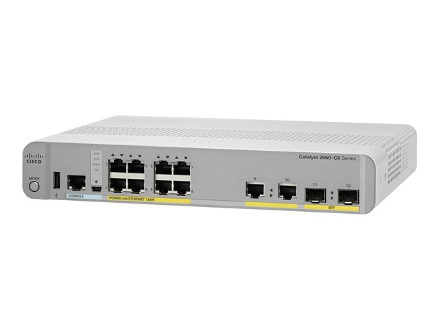 Cisco : CATALYST 2960-CX 8 PORT POE LAN BASE