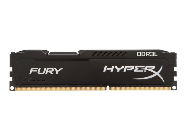 Kingston : 16GB 1600MHZ DDR3L CL 10 DIMM (kit OF) 2 1.35V FURY BLACK