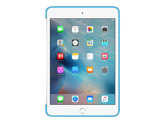 Apple : IPAD MINI 4 SILICONE CASE BLUE .