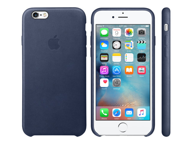 Apple : IPHONE 6S LEATHER CASE MIDNIGHT BLUE