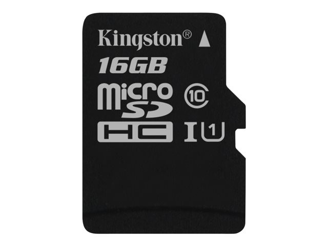 Kingston : 16GB MICROSDXC CLASS 10 UHS-I 45R FLASH card SINGLE pack