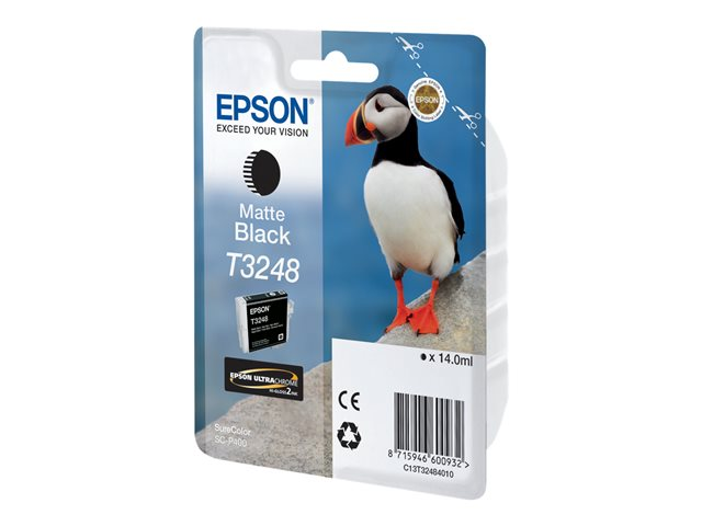 Epson : HI-GLOSS2 T3248 PUFFIN SINGLEpack 1X14.0ML BLACK
