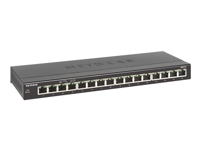Netgear : SWITCH 16 PORTS 10/100/1000 RJ45 VISIBLE 25/01