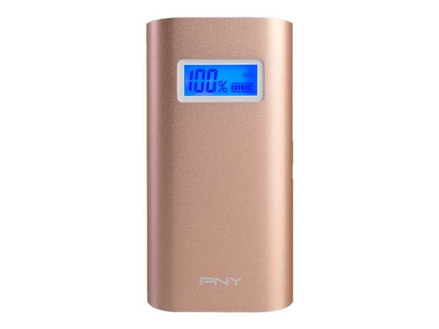 PNY : POWERpack ALU DIGITAL ROSE PINK 5200MAH 1XUSB 2.4A OUTPUT