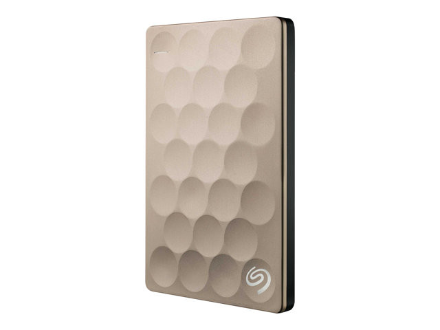 Seagate : BACKUP PLUS ULTRA SLIM 1TB 2.5IN USB3.0 PORTABLE HDD GOLD