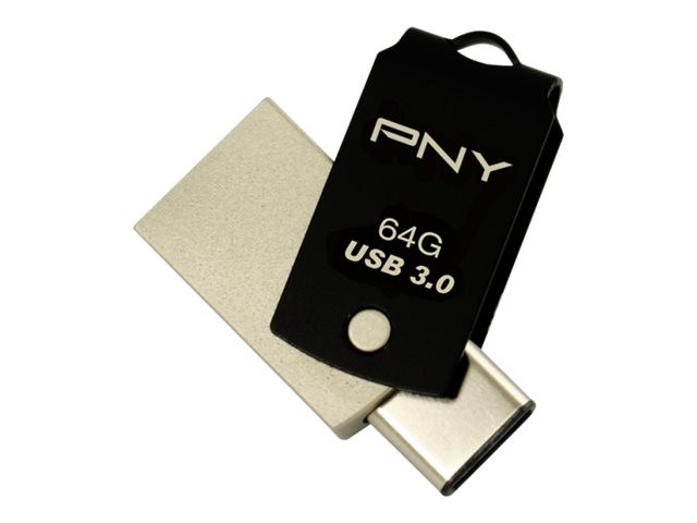 PNY : PNY - 64GB USB TYPE-C TO TYPE A READ 120MB/S WRITE 15MB/S