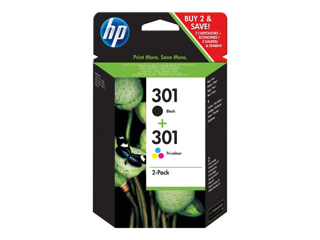 HP : Cartouche Encre NO 301 B/C/M/Y COMBO 2-pack BLISTER