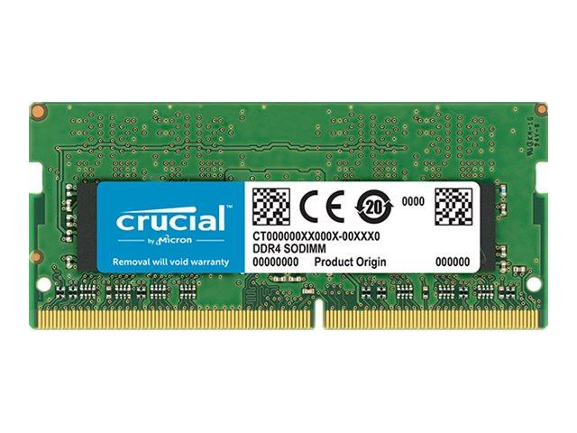 Crucial : 16GB DDR4 2400 MT/S PC4-19200 CL17 DR X8 UNBUFF SODIMM 260PIN