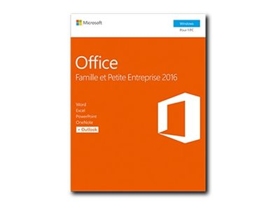 Microsoft : OFFICE HOME et BUSINESS2016 WIN fr