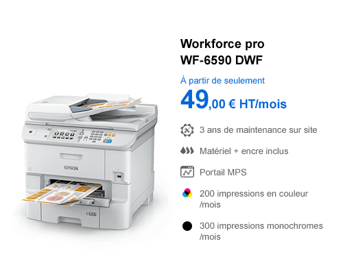 Imprimante Epson Workforce Pro WF-6590 DWF