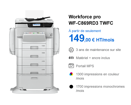 Imprimante Epson Workforce Pro WF-C869RD3 TWFC